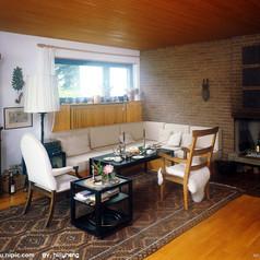 客厅-客厅 沙发 摆设 装饰 壁纸 背景 书桌