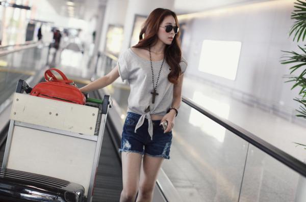上海机场偶遇的美女