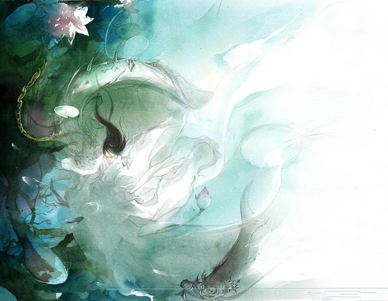 ... 精美古风水彩插画赏(一)_贝多芬的眼泪_百度空间