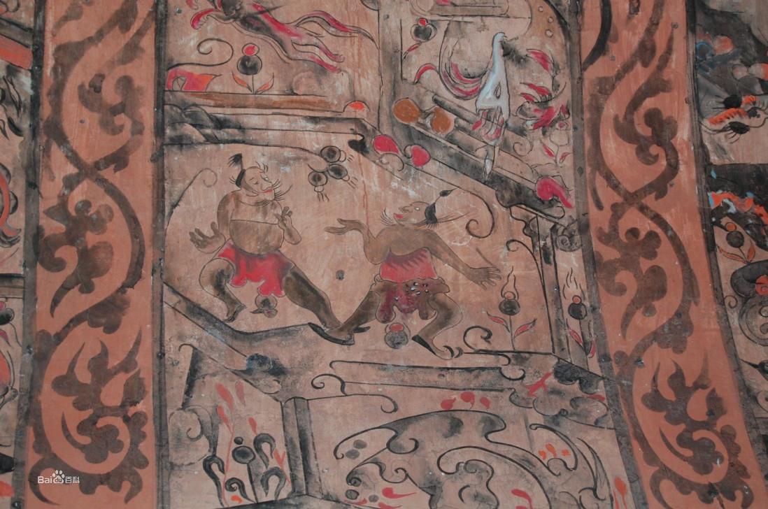 密县汉墓相扑壁画 日本相扑起源