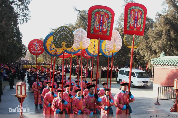 幡幢 古代常在军事指挥,仪仗行列,舞蹈表演中使用 高清图片