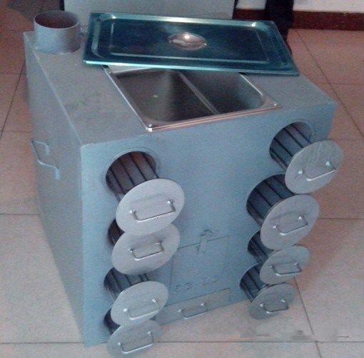 烤地瓜炉是用来烘烤地瓜的炉具,全世界有各种各样的烤地瓜炉子.图片