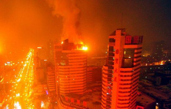 2·21乌鲁木齐商贸城火灾图片