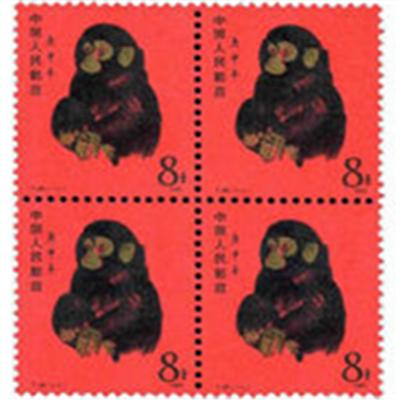 图案为十二生肖,即猴年发行一枚以猴为主图的邮票,每年一次.图片