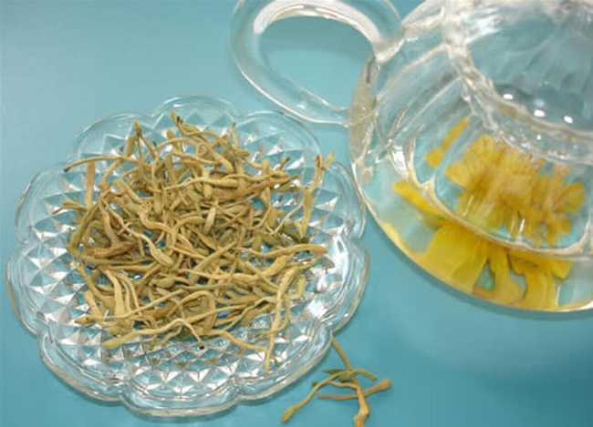 金银花茶的图片