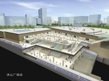 武汉地铁同站台换乘3D示意图