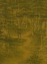 五代南唐巨然层岩丛树图轴