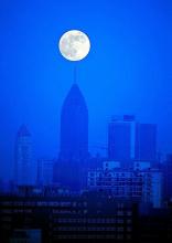 7月22日超级月亮图片