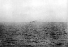 黄海海战现场照片及示意图
