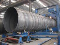 生产中的螺旋钢管