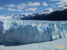 冰川的景色