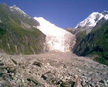 四川贡嘎山海螺沟冰川的冰舌