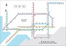 深圳地铁运营线路图
