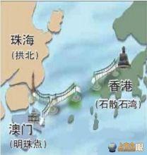 港珠澳大桥路线设计示意图
