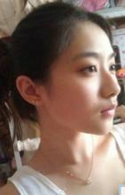 孙雪宁素颜照、化妆照