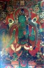 绿度母(白居塔壁画)