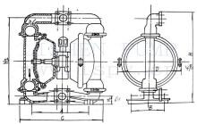 气动隔膜泵安装尺寸图图片