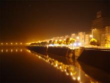 开化钱江源头溪边夜景