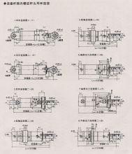 活塞式液压缸的工作原理 活塞式液压缸可分为单杆式和双杆式两种结构图片