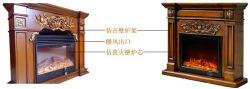 装饰壁炉架和仿真火炉芯可以单独使用,也可以组合在一起.图片