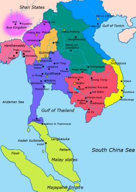 素可泰王朝疆域图片