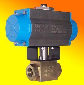 气动高压o型球阀具有结构紧凑,运行灵敏,平稳,使用寿命长的特点.图片