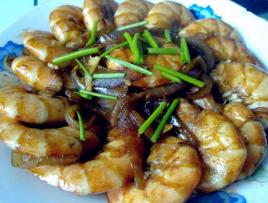 龙虾焖洋葱大虾精养模式图片
