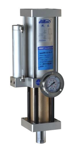 此时,增压缸的增压腔因为电信号(或气动信号)动作,开始增压从而达到图片