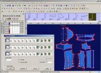 电脑中存储大量地款式和花样供设计师选择和修改,设计过程可大为简化