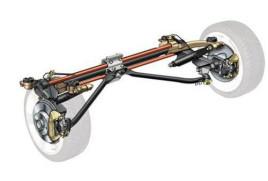 然后以液压减震器和螺旋弹簧充当软性连接,起到吸震和支撑车身的作用图片