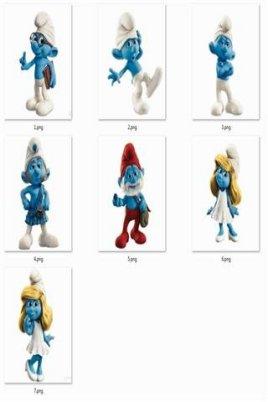 蓝精灵表情包分享展示图片