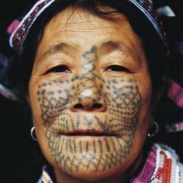 黎族纹身图册图片