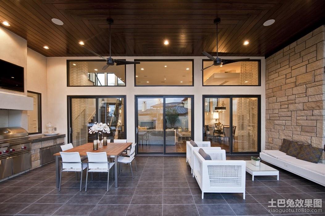 后现代风格别墅餐厅效果图图片
