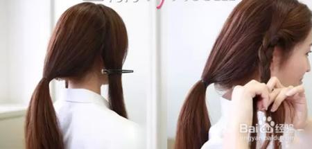 教你长发如何扎成短发图片
