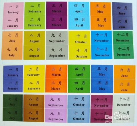 英语单词分类:月份,星期图片