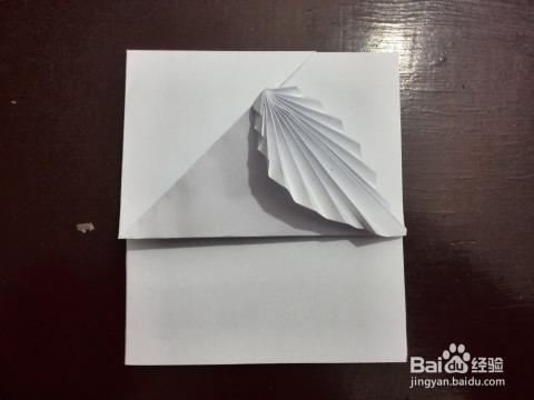 信纸折法——相思叶图片