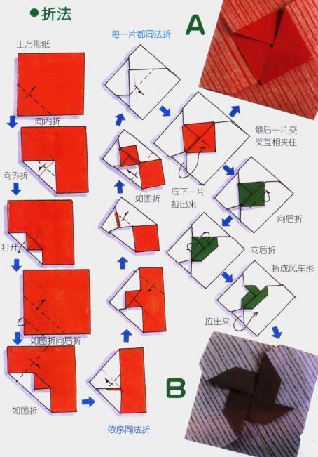 图解多种信纸的折法图片