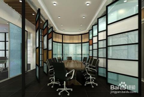 办公室隔断效果图颜色的搭配:高隔墙是整个居室的一部分,颜色应该和居