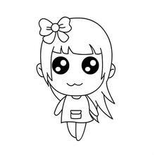 简笔画三个小女孩是闺蜜的那种,背景深橘色,一个长发一个短发一个中图片