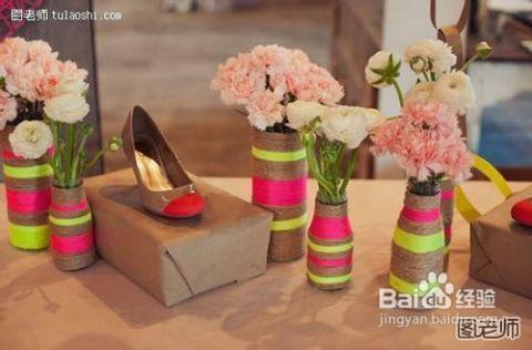 花瓶设计步骤制作花瓶麻绳观星的手工图片