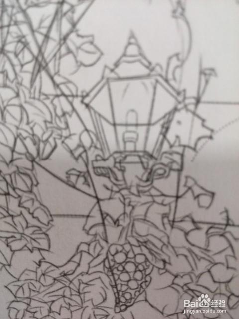 植物风景的彩铅技巧