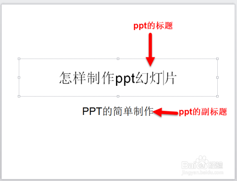 插入ppt的标题和副标题.     &nbsp图片