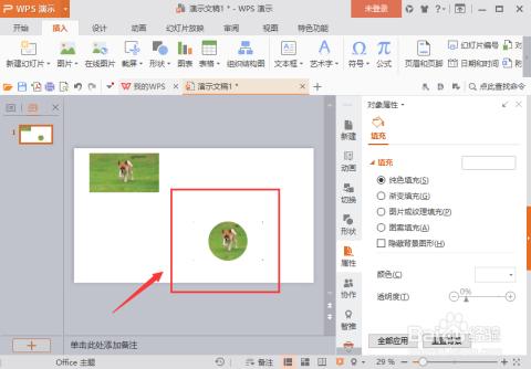 wps演示中的图片形状怎么快速改变图片