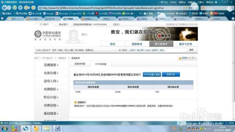 如何使用中国移动网上营业厅查询个人消费