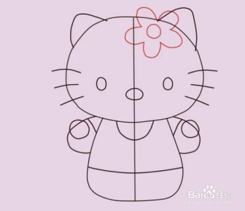 教你怎么画hello kitty图片