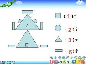 小学数学一年级认识图形图片