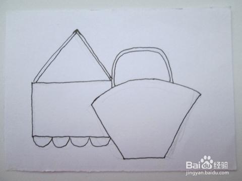 今天,我来教大家用水彩笔画好看的花包,送给妈妈吧.图片