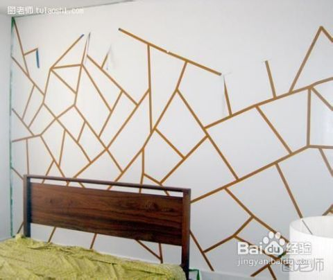 教你diy几何手绘墙图片