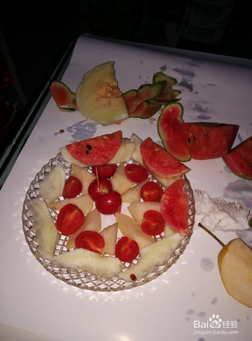 简单的水果拼盘