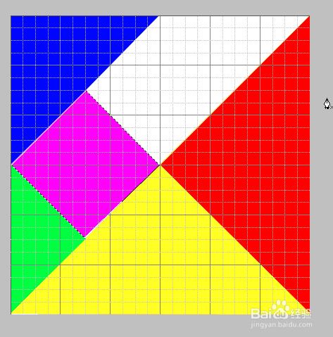 如何使用ps做七巧板拼图图片